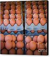 Fresh Eggs On A Street Fair In Brazil Canvas Print