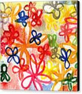 Fresh Flowers Canvas Print by Linda Woods