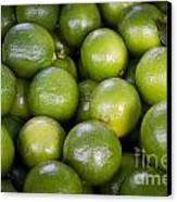 Fresh Limes On A Street Fair In Brazil Canvas Print by Ricardo Lisboa