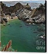 Fresh Water Into The Bay Canvas Print by Adam Jewell