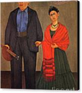 Frida Kahlo And Diego Rivera 1931 Canvas Print