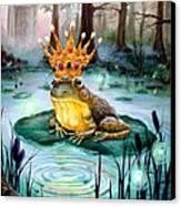 Frog Prince Canvas Print by Heather Calderon