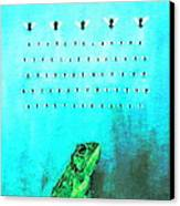 Frog With Flies In Space Invaders Formation Canvas Print by Fabrizio Cassetta