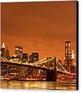 From Brooklyn To Manhattan Canvas Print by Andreas Freund