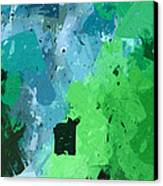 From Winter Blues To Spring Greens Canvas Print by Heidi Smith