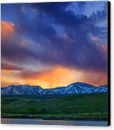 Front Range Light Show Canvas Print by Darren  White