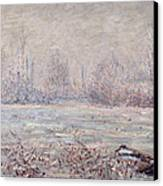 Frost Near Vetheuil Canvas Print by Claude Monet