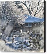 Frosty Winter Window Canvas Print by Thomas Woolworth
