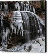 Frozen Buttermilk Falls Canvas Print by Anthony Thomas