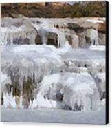 Frozen Falls Canvas Print