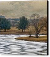 Frozen Lake Canvas Print by Kathy Jennings