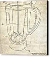 Frozen Margarita Recipe Patent Canvas Print by Edward Fielding