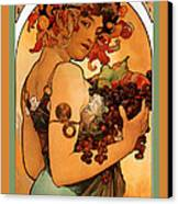Fruit Canvas Print by Alphonse Maria Mucha