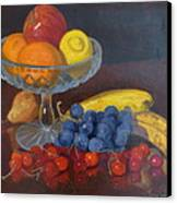 Fruit And Glass Canvas Print