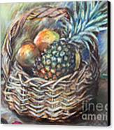 Fruit Basket Canvas Print by Melanie Alcantara Correia