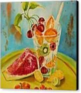 Fruit Coctail Canvas Print by Summer Celeste