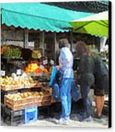 Fruit For Sale Hoboken Nj Canvas Print by Susan Savad