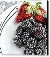Fruit I - Strawberries - Blackberries Canvas Print
