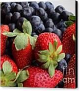 Fruit - Strawberries - Blueberries Canvas Print
