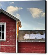 Ft Collins Barn 13493 Canvas Print by Jerry Sodorff