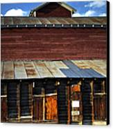 Ft Collins Barn 13553 Canvas Print by Jerry Sodorff