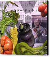 Fukushima Veggies Canvas Print by Megan Dirsa-DuBois