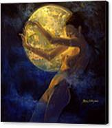 Full Moon Canvas Print by Dorina  Costras