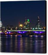 Full Moon Rise Behind St Pauls Canvas Print by Andrew Lalchan
