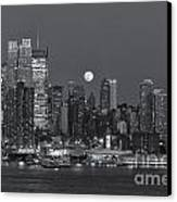 Full Moon Rising Over New York City IIi Canvas Print by Clarence Holmes