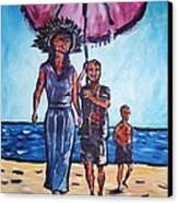 Fun In The Sun Canvas Print by Linda Vaughon