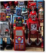 Fun Toy Robots Canvas Print by Garry Gay