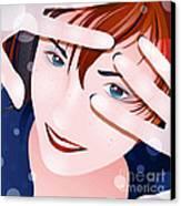 Funny II Canvas Print by Sandra Hoefer