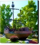 Funplex Funpark Boat 3 Canvas Print by Lanjee Chee