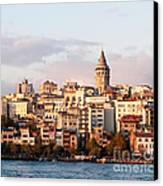 Galata Skyline 01 Canvas Print by Rick Piper Photography