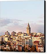 Galata Skyline 02 Canvas Print by Rick Piper Photography