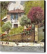 Galline Canvas Print by Guido Borelli