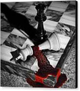 Game - Chess - Check Mate Canvas Print by Mike Savad