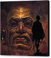 Gandhi - The Walk Canvas Print