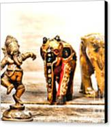 Ganesh Dream Canvas Print by Olivier Le Queinec