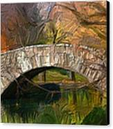 Gapstow Bridge In Central Park Canvas Print