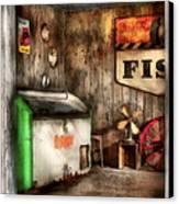 Garage - Just Behind The Garage Canvas Print by Mike Savad
