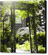 Garden Arbor In Sunlight Canvas Print by Elena Elisseeva