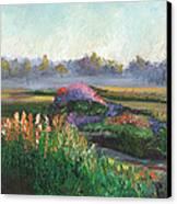 Garden At Sunrise Canvas Print