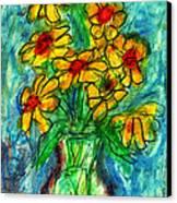 Garden Flower Mono-print Canvas Print by Don Thibodeaux