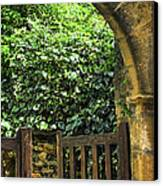 Garden Gate In Sarlat Canvas Print by Elena Elisseeva