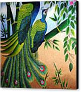 Garden Jewel II Hand Embroidery Canvas Print by To-Tam Gerwe