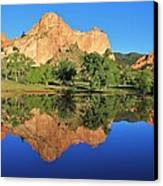 Garden Of The Gods Reflecting Canvas Print by Diane Alexander