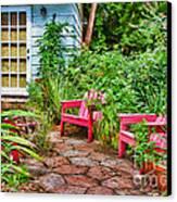 Garden Treasures At Aunt Eden's By Diana Sainz Canvas Print