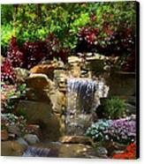 Garden Waterfalls Canvas Print