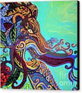 Gargoyle Lion 3 Canvas Print